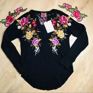 Johnny Was Tops - Johnny Was Zosia Embroidered Long Sleeve T0169